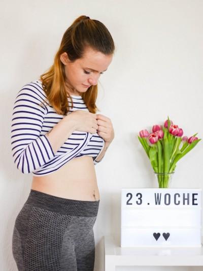 Babybauch 23. Woche