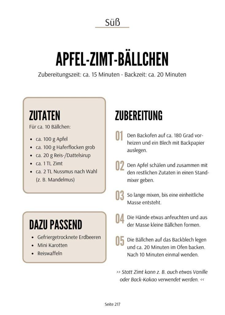 Apfel-Zimt-Bällchen Rezept - Brotdose