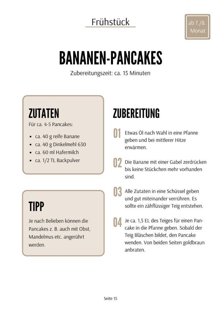 Bananen - Pancakes Rezept - Baby