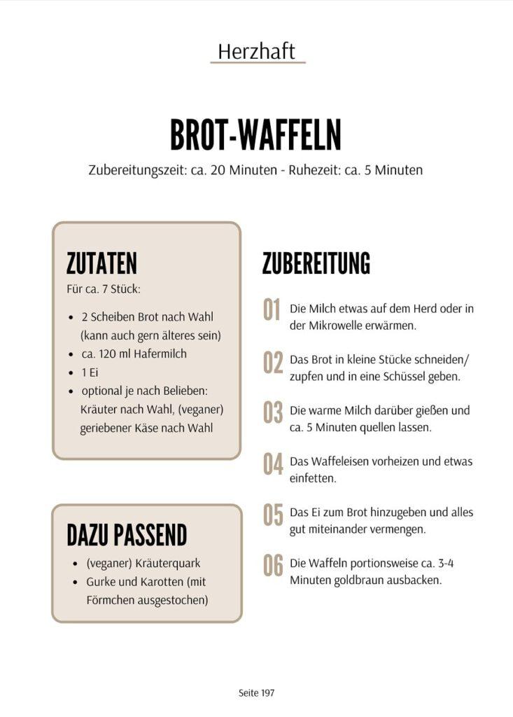 Brotwaffeln Rezept - Brotdose