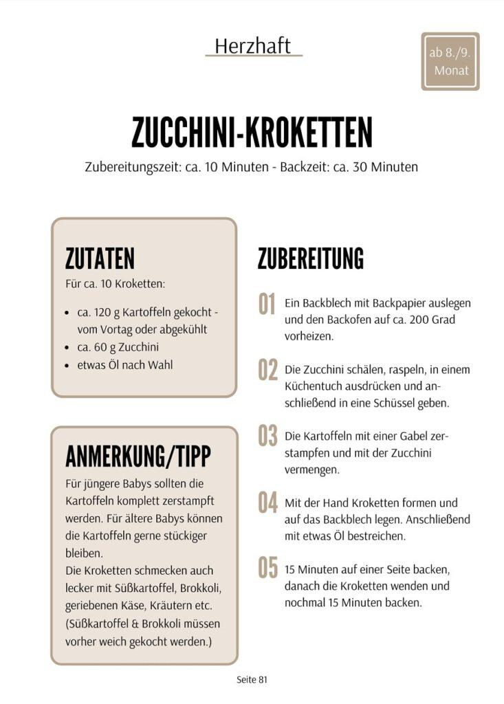 Zucchini Kroketten Rezept - Baby